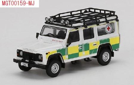 MINI GT 1/64 ランドローバー ディフェンダー 110 英国赤十字社 捜索救難 (右ハンドル) 北米限定
