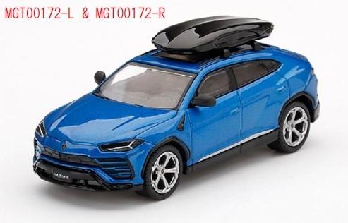 MINI GT 1/64 ランボルギーニ ウルス Blu Eleos(ブルー) w/ルーフボックス(左ハンドル)