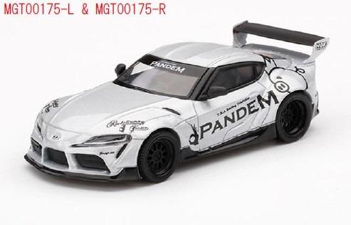 MINI GT 1/64 Pandem Toyota GR スープラ V1.0 シルバー(右ハンドル)