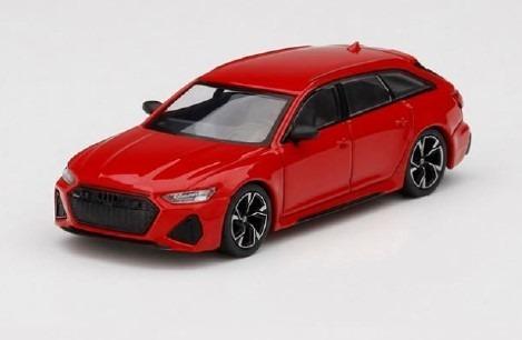 <予約 2020/12月発売予定> MINI GT 1/64 アウディ RS 6 アバント カーボンブラックエディションタンゴレッド(左ハンドル)