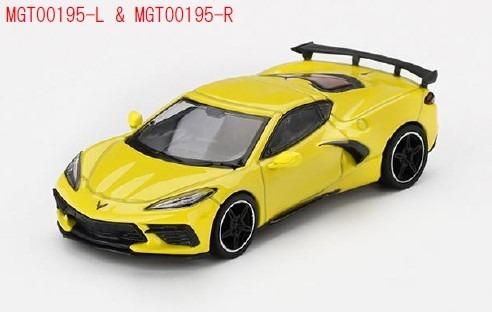 <予約 2020/12月発売予定> MINI GT 1/64 シボレー コルベット スティングレイ 2020アクセレレートイエロー(左ハンドル)