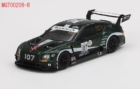 MINI GT 1/64 ベントレー コンチネンタル GT3 トータル スパ24時間 2019 #107 ベントレーチーム Mスポーツ(右ハンドル)