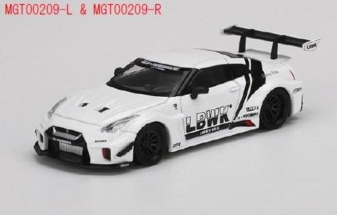 MINI GT 1/64 LB-Silhouette WORKS GT Nissan 35GT-RR バージョン2LBWK ホワイト(右ハンドル)