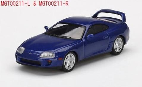 MINI GT 1/64 Toyota スープラ ブルーパールメタリック(左ハンドル)
