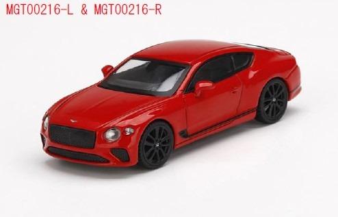MINI GT 1/64 ベントレー コンチネンタル GT セントジェームスレッド(右ハンドル)
