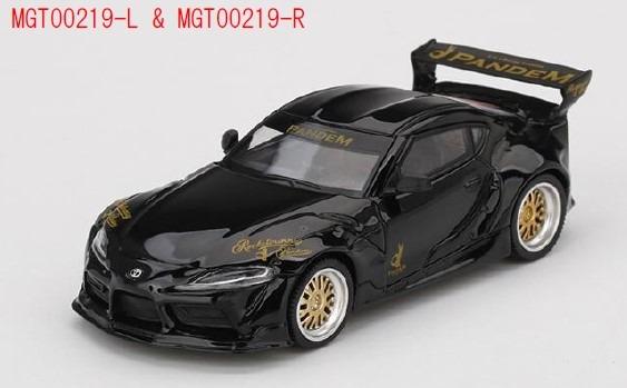 MINI GT 1/64 Pandem GR スープラ V1.0 ブラック(右ハンドル)