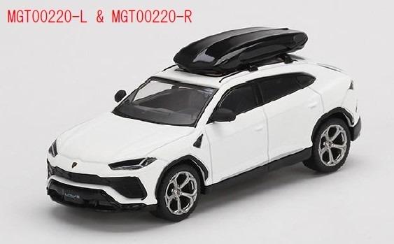 MINI GT 1/64 ランボルギーニ ウルス Bianco Monocerus Matt(ホワイト) w/ルーフボックス(左ハンドル)