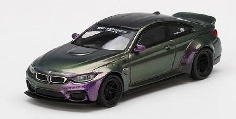 MINI GT 1/64 LB★WORKS BMW M4 パープル-グリーンメタリック (左ハンドル)