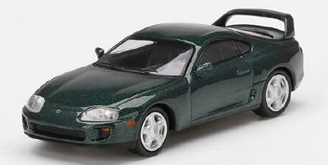MINI GT 1/64 Toyota スープラ ダークグリーンパールメタリック (右ハンドル)