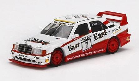 """MINI GT 1/64 メルセデス ベンツ 190E 2.5-16 エボリューション II DTM 1991 #7 """"East""""(左ハンドル)"""
