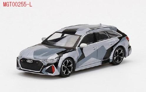 MINI GT 1/64 アウディ RS 6 アバント シルバーデジタルカモフラージュ (中国限定)