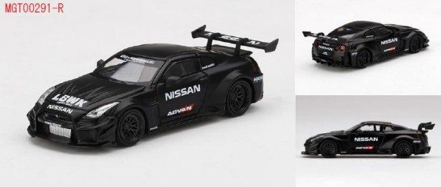 <予約 2021/12月発売予定> MINI GT 1/64 LB-Silhouette WORKS GT Nissan 35GT-RRバージョン2 マットブラック LBWK(右ハンドル)