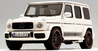 MOTORHELIX 1/64 Mercedes AMG G63 (2019) 463 edition Pearl White