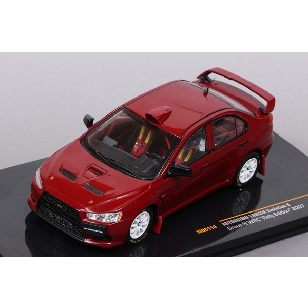 【イクソ】 1/43 三菱 ランサー エヴォリューション X Gr.N WRC ラリーエディション 2007