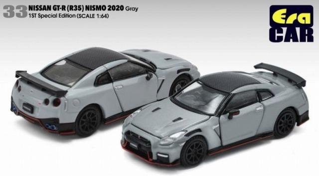 Era CAR 1/64 日産 GT-R R35 ニスモ 2020 グレー  USA LIMITED 限定1200台