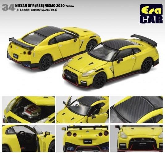 Era 1/64 Nissan GT-R(R35) ニスモ 2020 イエロー (初回限定) (ボンネット・ドア開閉)