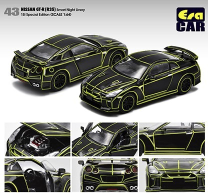 EraCAR 1/64 Nissan GT-R R35 Smart Night Livery 1st Special Edition