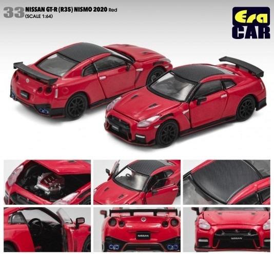 Era 1/64 Nissan GT-R(R35) NISMOニスモ 2020 レッド(ボンネット・ドア開閉)