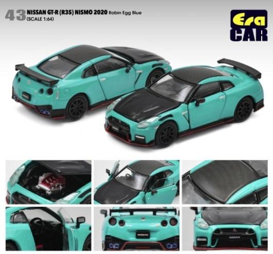 EraCAR 1/64 Nissan GT-R R35 NISMO 2020 Robin Egg Blue