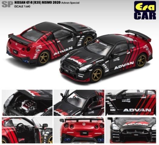 EraCAR 1/64 Nissan GT-R R35 NISMO 2020 ADVAN Special