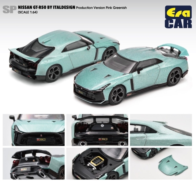 Era 1/64 Nissan GT-R50 By Italdesign - Production Version Pink Greenish