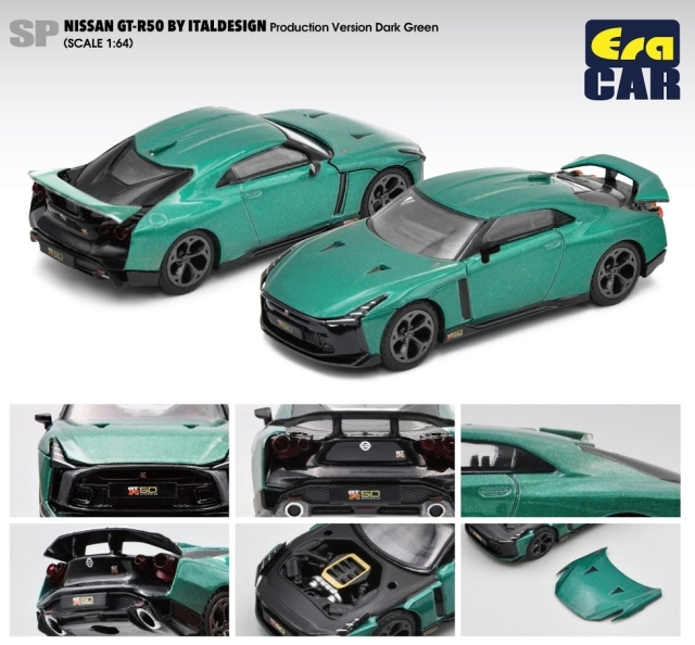 Era 1/64 Nissan GT-R50 By Italdesign - Production Version Dark Green