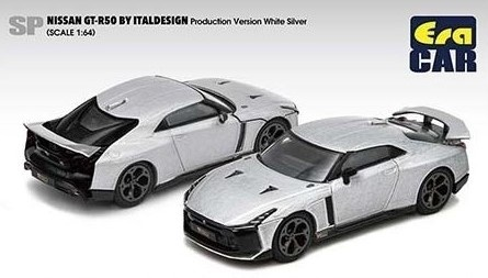 Era 1/64 Nissan GT-R50 By Italdesign Production Version White Silver