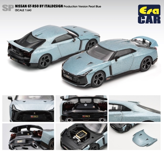 Era 1/64 Nissan GT-R50 By Italdesign - Production Version Pearl Blue