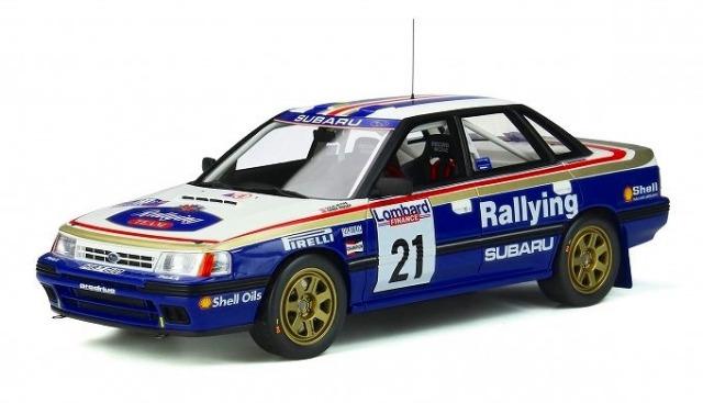 OTTO 1/18 スバル レガシィ RS Gr.A RAC #21 (ホワイト/ブルー) 世界限定 2,000個
