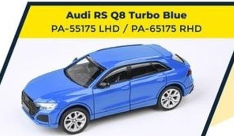 PARA64 1/64 Audi RS Q8 Turbo Blue LHD