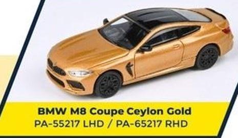 PARA64 1/64 BMW M8 Coupe Ceylon Gold LHD