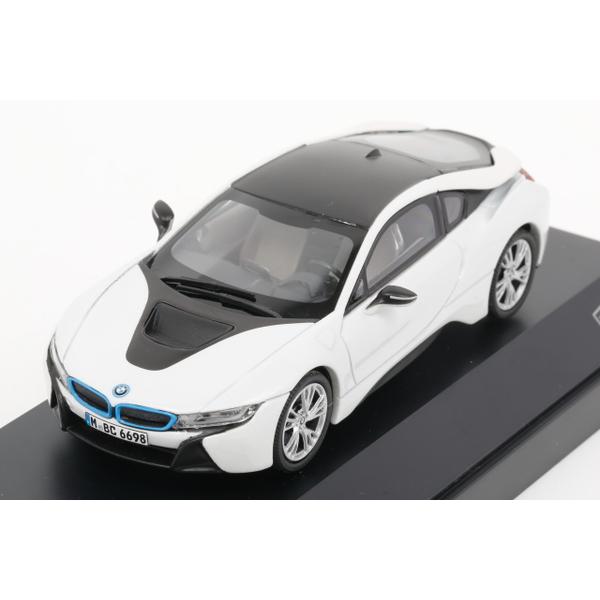 【PARAGON】 1/43 BMW i8 (Crystal white + Frozen grey)