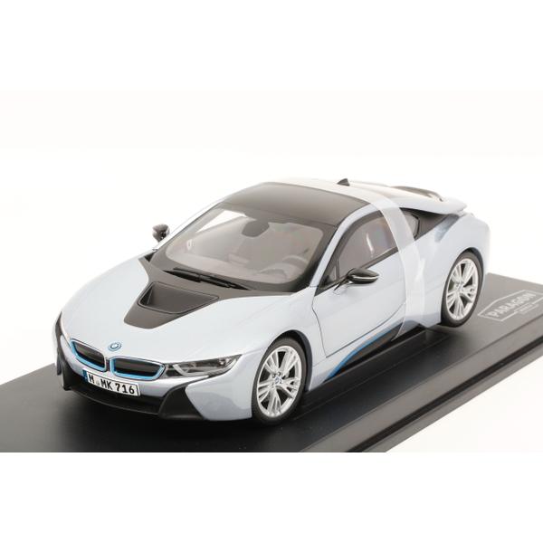 【PARAGON】 1/18 BMW i8 (Ionic silver + Blue matt)