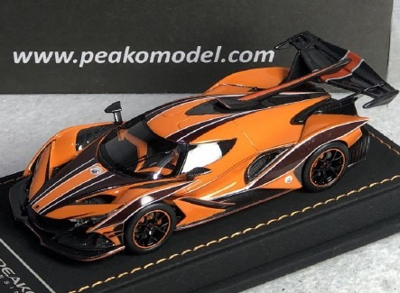 <予約 2020/10月下旬発売予定> PEAKO 1/43 アポロ Intensa Emozione (Apollo IE) Orange Dragon