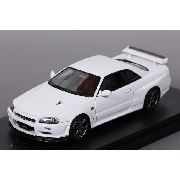 【MARK43】 1/43 日産 スカイライン GT-R V-スペックII BNR34 (ホワイト)