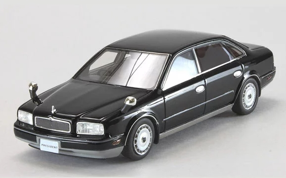MARK43 1/43 Nissan PRESIDENT (JHG50) Customised Privacy Glass Version Fender Mirror Black