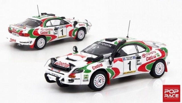POP RACE 1/64 Toyota Celica GT-Four ST185 Safari Rally 1993 Winner #1 J.Kankkunen/J.Piironen