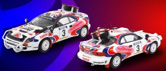 POP RACE 1/64 トヨタ セリカ GT-FOUR ST185 サファリラリー 1994 優勝車 #3 Ian Duncan/David Williamson