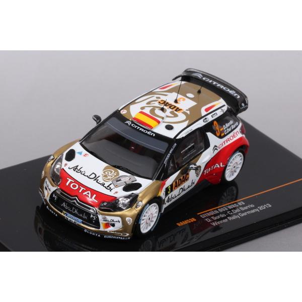 【ixo】 1/43 シトロエン DS3 WRC Rally Germany2013 No.3 優勝車