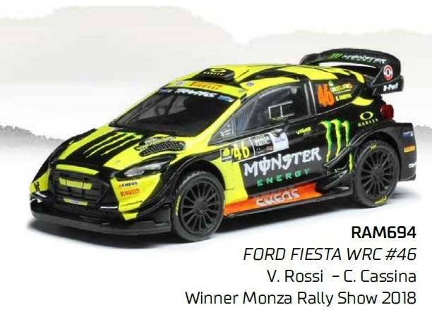 ixo 1/43 Ford FIESTA WRC No,46 Winner Monza Rally Show 2018
