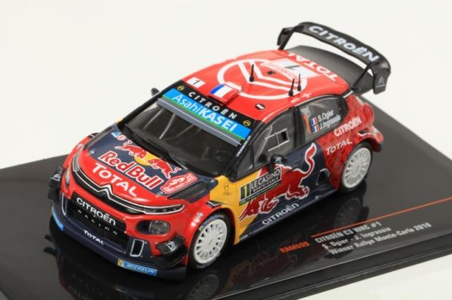 ixo 1/43 シトロエン C3 WRC 2019年ラリー・モンテカルロ 優勝 #1