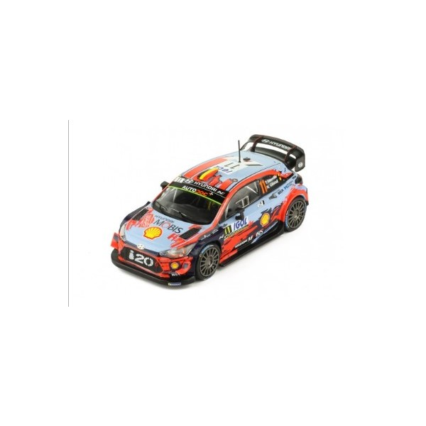 【ixo】 1/43 HYUNDAI Coupe i20 WRC # 11 T. Neuville-N.Gilsoul 1er Rallye Corse 2019
