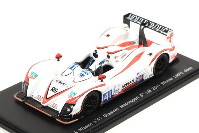 spark 1/43 Zytek Nissan No.41 Greaves Motorsport 8th LM 2011 Winner LMP2 class