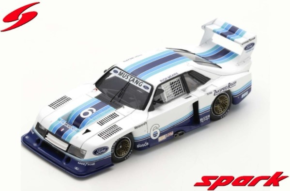 Spark 1/43 Ford Mustang Zakspeed No.6 Sears Point 1982 Rick Mears