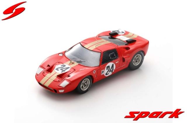 spark 1/43 Ford GT40 AMR2 No.24 12H Sebring 1966 G. Hill - J. Stewart