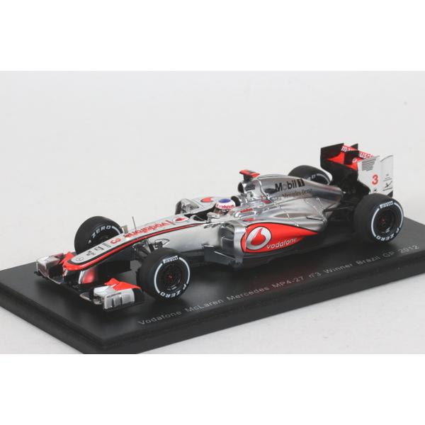 【Spark】 1/43 マクラーレン メルセデス MP4-27 ブラジル GP2012 No.3 Winner バトン