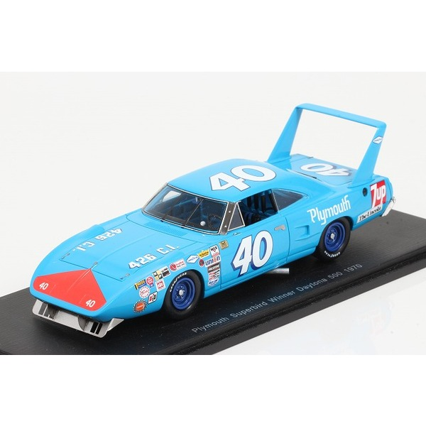 【スパーク】 1/43 Plymouth Superbird No.40 Winner Daytona 500 1970  Pete Hamilton