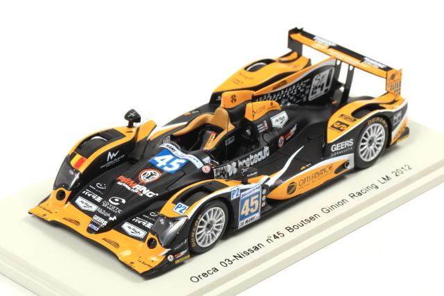 spark 1/43 Oreca 03-Nissan No.45 Boutsen Ginion Racing LM 2012