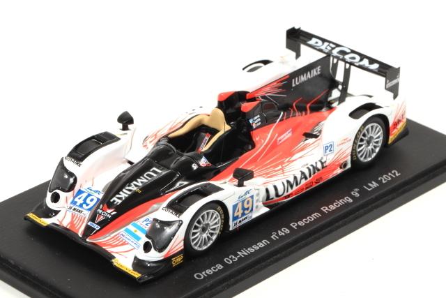 spark 1/43 Oreca 03-Nissan No.49 Pecom Racing 9th LM 2012