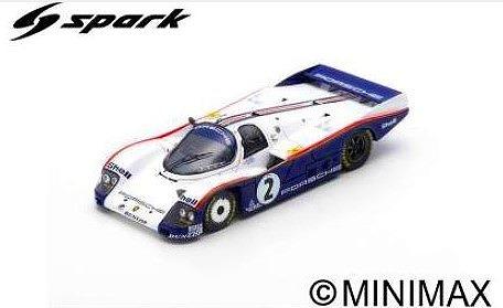 Spark 1/43 Porsche 962 C No.2 3rd 24H Le Mans 1985 D. Bell - H-J. Stuck - J. Ickx